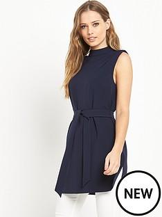 v-by-very-high-neck-side-split-tunic