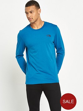the-north-face-long-sleeve-easy-mens-t-shirt-blue