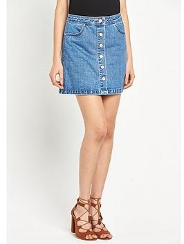 miss-selfridge-button-mini-denim-skirt