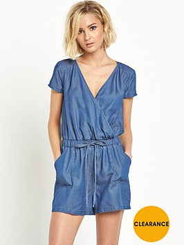 miss-selfridge-tencel-wrap-over-playsuit