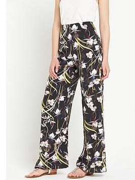 miss-selfridge-tropical-print-wide-legnbsptrouser