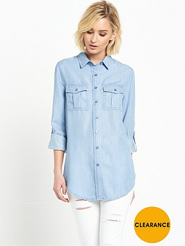 miss-selfridge-tencel-roll-sleeve-bleachwash-shirt