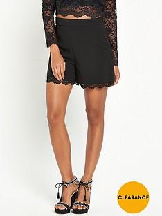 miss-selfridge-black-lace-short