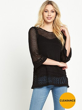 v-by-very-pointellenbspflare-sleeve-jumper