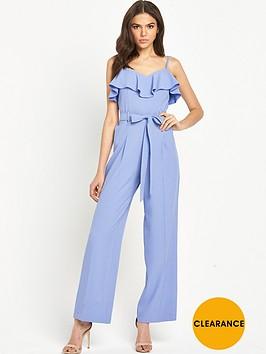 miss-selfridge-strappy-ruffle-jumpsuit-bluenbsp