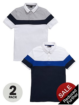 v-by-very-2-pack-chest-stripe-pique-polo-shirt