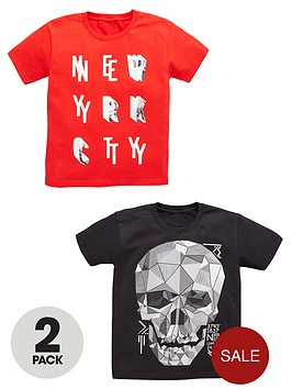 v-by-very-boys-skull-and-nycnbspprint-t-shirts-2-pack