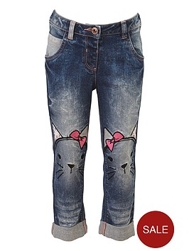 mini-v-by-very-girls-fashion-cat-applique-jeans