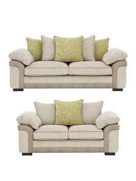 banthannbsp3-seaternbsp-2-seaternbspfabric-sofa-suite-buy-and-save