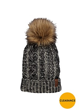 superdry-canyon-faux-fur-pom-pom-beanie-monochrome