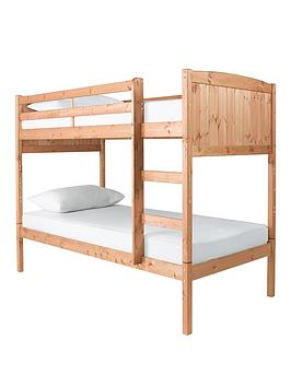 kidspace-jojo-solid-pine-bunk-bed-with-optional-mattress