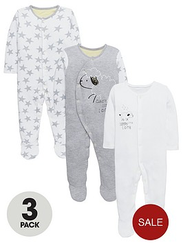 ladybird-baby-unisex-sheepstar-print-sleepsuitsnbsp3-pack
