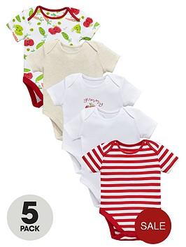 ladybird-baby-unisex-bodysuits-5-pack