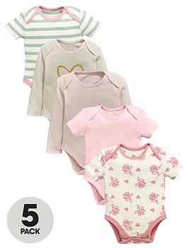 ladybird-baby-girls-prettybodysuits-5-pack
