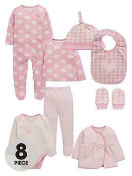 ladybird-baby-girls-pink-layette-set-8-piece