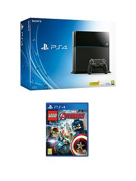 playstation-4-500gb-black-console-with-lego-marvel-avengers-and-optional-extra-dualshock-controller-365-psn-subscription