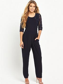 wallis-petite-lace-sleeve-jumpsuitnbsp