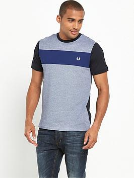 fred-perry-twill-jersey-panel-t-shirt