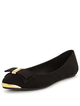v-by-very-beatty-pointed-ballerina-with-gold-trims