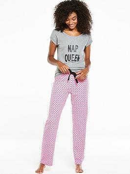 v-by-very-everyday-essentials-nap-queen-night-t-shirt-pyjama-set