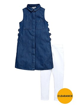 river-island-girls-denim-tabbardnbspand-leggings-set