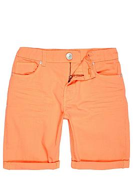 river-island-boys-orange-denim-skinny-shorts