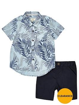 river-island-mini-boys-tropical-shirt-and-shorts-set
