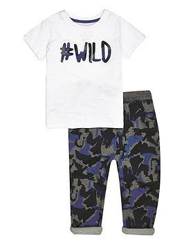river-island-mini-mini-boys-wild-t-shirt-and-camonbspjoggers-set