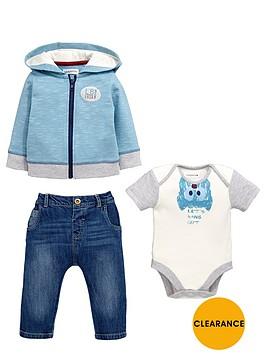 ladybird-babynbspboys-bat-bodysuit-stripe-hoodie-and-jeans-set-3-piece
