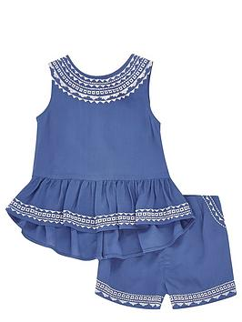 river-island-mini-girls-aztec-trim-top-and-shorts-set