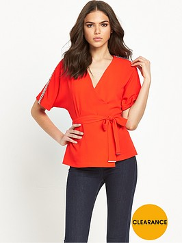 river-island-embellished-trim-belted-waist-kimono-wrap-top