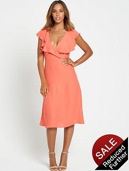rochelle-humes-ruffle-front-midi-dress