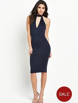 ax-paris-scuba-bodycon-dress-with-cut-outnbspplunge-front