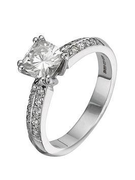 moissanite-18-carat-150pt-white-gold-cushion-cut-engagement-ring