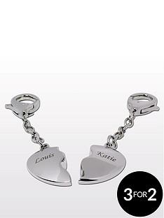 personalised-2-heart-keyrings