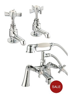 bristan-traditional-basin-tap-set-and-bath-shower-mixer-chrome