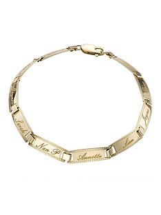 love-gold-9-carat-yellow-gold-family-name-bracelet