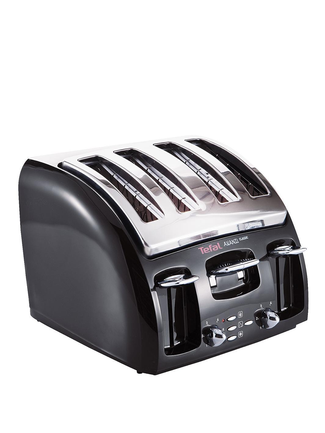 Tefal 532718 Avanti 4 Slice Toaster Black