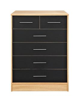 kidspace-ohio-4-2-chest-of-drawers-black-pink