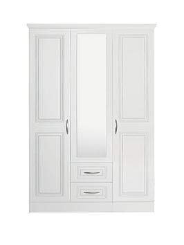 consort-dorchester-3-door-2-drawer-mirrored-wardrobe