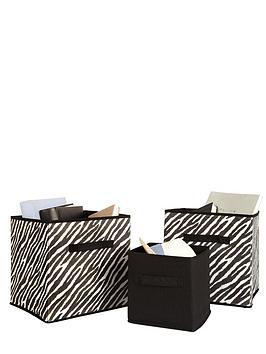 ideal-set-of-3-print-storage-boxes-2-zebra-print-1-plain
