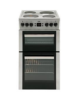 beko-bdv555as-50cm-double-oven-electric-cooker-silver