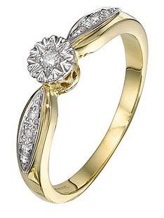 love-diamond-9-carat-yellow-gold-6-point-illusion-set-ring