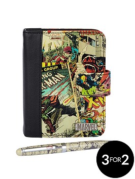 marvel-retro-comic-organiser-and-pen-set-2-piece