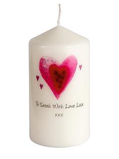 personalised-hearts-candle