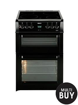 beko-bdvc664k-60cm-electric-double-oven-cooker-black