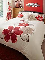 Candice Duvet Cover and Pillowcase Set - Ivory/Red (Buy 1 Get 1 FREE!)