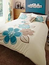 Candice Duvet Cover & Pillowcase Set - Teal (Buy 1 Get 1 FREE!)