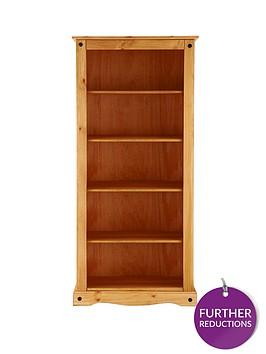 corona-solid-pine-tall-bookcase