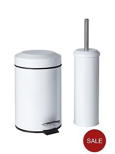 Bathroom home garden for Bathroom bin and brush set